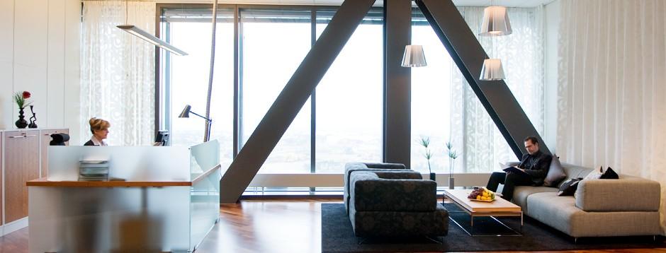 Kontorshotellet på våning 31