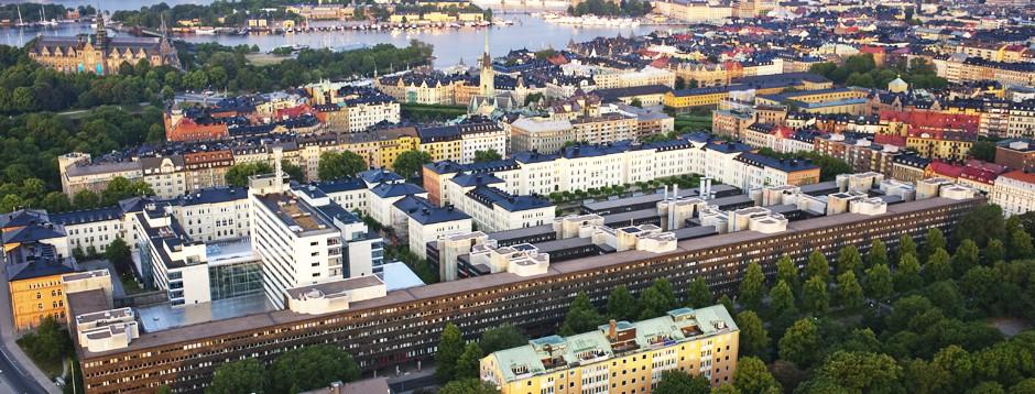 Flygfoto över Kv Garnisonen