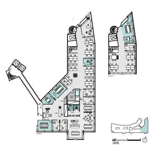Kontor på vån 4+5, 35-45 arbetsplatser, 783 kvm
