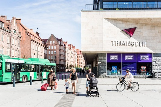 I Triangelns köpcentrum finns stort serviceutbud